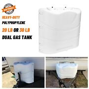 Propane Gas Tank Cover Heavy Duty Case Replacement Part For Trailer Rv White New