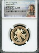 2021 S Sacagawea 1 Military Service Early Releases Ngc Pf70 Uc-- Red