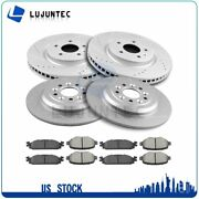 Front Rear Ceramic Pads And Rotors Brake Disc For Ford Explorer 2.0l 2013-2015