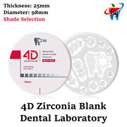 Crown And Bridge Dental Lab Milling Rs 4d Zirconia Blank Disc Thickness 25mm