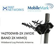 Mobilemark Y42700wb-2x 600 To 6000 Mhz Lte Mimo Wideband Log Periodic Antenna
