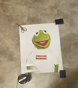 Orginal 2008 Supreme Nyc X The Muppets Kermit The Frog Brand New Unframed Clean