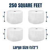 Bubble Cushioning Wrap 1/2 250 Ftandsup2 X 12and039and039 Perforated Every 12 Large Bubble