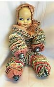 Vintage Antique Handmade Pixie, Elf , Clown Doll With Jingle Bells On Hands And