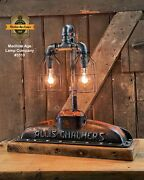 Steampunk Industrial Machine Age Lamp Allis Chalmer Radiator Table Lamp Tractor