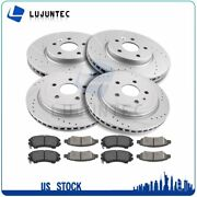 Front Rear Ceramic Pads And Rotors Brake Disc For Chevrolet Camaro 3.6l 2010-15