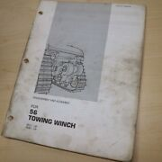 Cat Caterpillar 56 Towing Winch Repair Shop Service Disassembly Manual Tractor