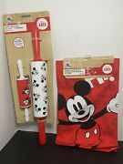 New Disney Eats Lot Rolling Pin Set And Kitchen Towels