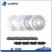 Front And Rear Discs Brake Rotors And Ceramic Pads For Land Rover Lr4 2010-2012
