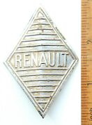 Vintage Genuine And039and039renaultand039and039 Hood Badge Emblem