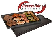 Camp Chef Pre Seasoned Black Cast Iron Reversible Griddle And Grill Accessory