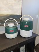 Vintage Coleman Water Coolers Iconic Green Made In Usa