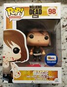 Funko Pop Walking Dead Maggie 98 Gemini Collectibles Bloody Variant