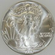 1986 American Silver Eagle - One Troy Ounce .999 Pure / Unc / Actual Coin T7