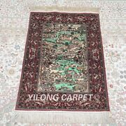 Yilong 2and039x3and039 600lines Handmade Silk Pictorial Tapestry Quality Indoor Rug Mc577h