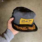 Vintage K Products Cat Diesel Power Mesh Trucker Snap Back Made In Usa