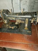Vintage Necchi Bu Built In Sewing Machine W/ Pedal Singer Foot Pedal And Table