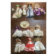 Lot Of 10 Nancy Ann Storybook Dolls - Antique - Moveable And Fixed Joints