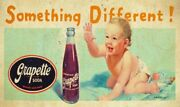 Grapette Grape Flavored Soda Pop Baby Heavy Duty Usa Made Metal Advertising Sign
