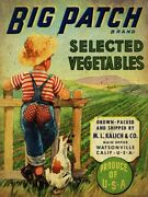 Big Patch Selected Vegetables Boy Dog Heavy Duty Usa Made Metal Advertising Sign