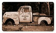 Nashville Or Bust Old Antique Truck Tires Bed 14 Heavy Duty Usa Made Metal Sign
