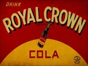 Royal Crown Cola Heavy Duty Usa Made Rc Cola Nehi Corp Metal Advertising Sign