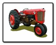 Massey Harris Red Farm Tractor 15 Heavy Duty Usa Made Metal Advertising Sign