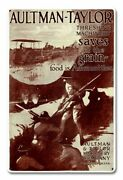 Aultman Taylor Farm Tractor Wwi Soldiers 18 Heavy Duty Usa Made Metal Adv Sign