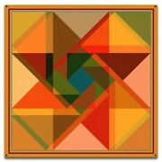 Triangle Overlay Quilt Block Pattern 18 Square Heavy Duty Usa Made Metal Sign