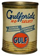 Gulfpride Hd Select Alchlor Gulf Heavy Duty Usa Made Metal Oil Advertising Sign