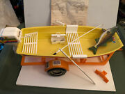 Vintage Barbie 1973 Goinand039 Boating Sears Exclusive Fishing Boat All Accessories