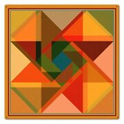 Triangle Overlay Quilt Block Pattern 24 Square Heavy Duty Usa Made Metal Sign