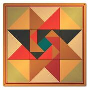 Triangle Southwest Quilt Block Pattern 24 Square Heavy Duty Usa Made Metal Sign