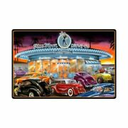 Blue Moon Drive In Classic Cars 36 Heavy Duty Usa Made Metal Advertising Sign