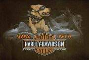 Harley Davidson Dogs Get It Side Car 36 Wide Heavy Duty Usa Made Metal Adv Sign