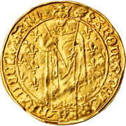 [877827] Coin France Charles Vii Royal Dand039or Chinon Gold Duplessy455