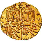 [877762] Coin, Constantine V And Leo Iv, Solidus, 751-755, Syracuse, Gold