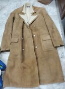 Ultra Rare Vintage Polo Leather Sherpa Trenchcoat Men's Size Xl