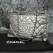 Lamb Skin Leater Chain Silver Shoulder Bag Tote Bag 2334 Rise-on