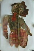Old Antique Leather Shadow Puppet Rare Collectible Series Of Ramayana Mahabharat