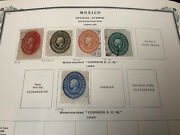 Mexico Antique Stamps 1880's On Album Pages . Rare Values .