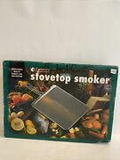Vintage Camerons Stovetop Stainless Steel Smoker Professional Open Box