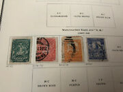 Mexico Antique Stamps 1890's On Album Page . Rare Values .