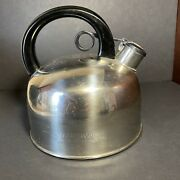 Limited Edition Series Farberware Whistling Teapot Kettle 2.5 Qt.stainless Steel
