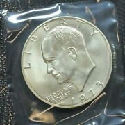 1973-s Eisenhower Uncirculated Silver Dollar With Ogp And Coa