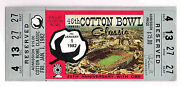 1982 Cotton Bowl Texas Vs Alabama Full Ticket Stub