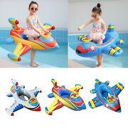 Airplane Inflatable Floats Swimming Swim Pool Kids Water Sports Beach Toy