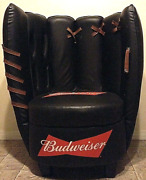 Budweiser Baseball Glove 46 Beer Memorabilia Man Cave Game Room Throne Chair