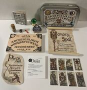Miniature Mystical Ouija Wooden Board Set W/planchet And 8 Tarot Cards And Box Green