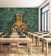 3d Chemistry Book 696na Business Wallpaper Wall Mural Self-adhesive Commerce Fay